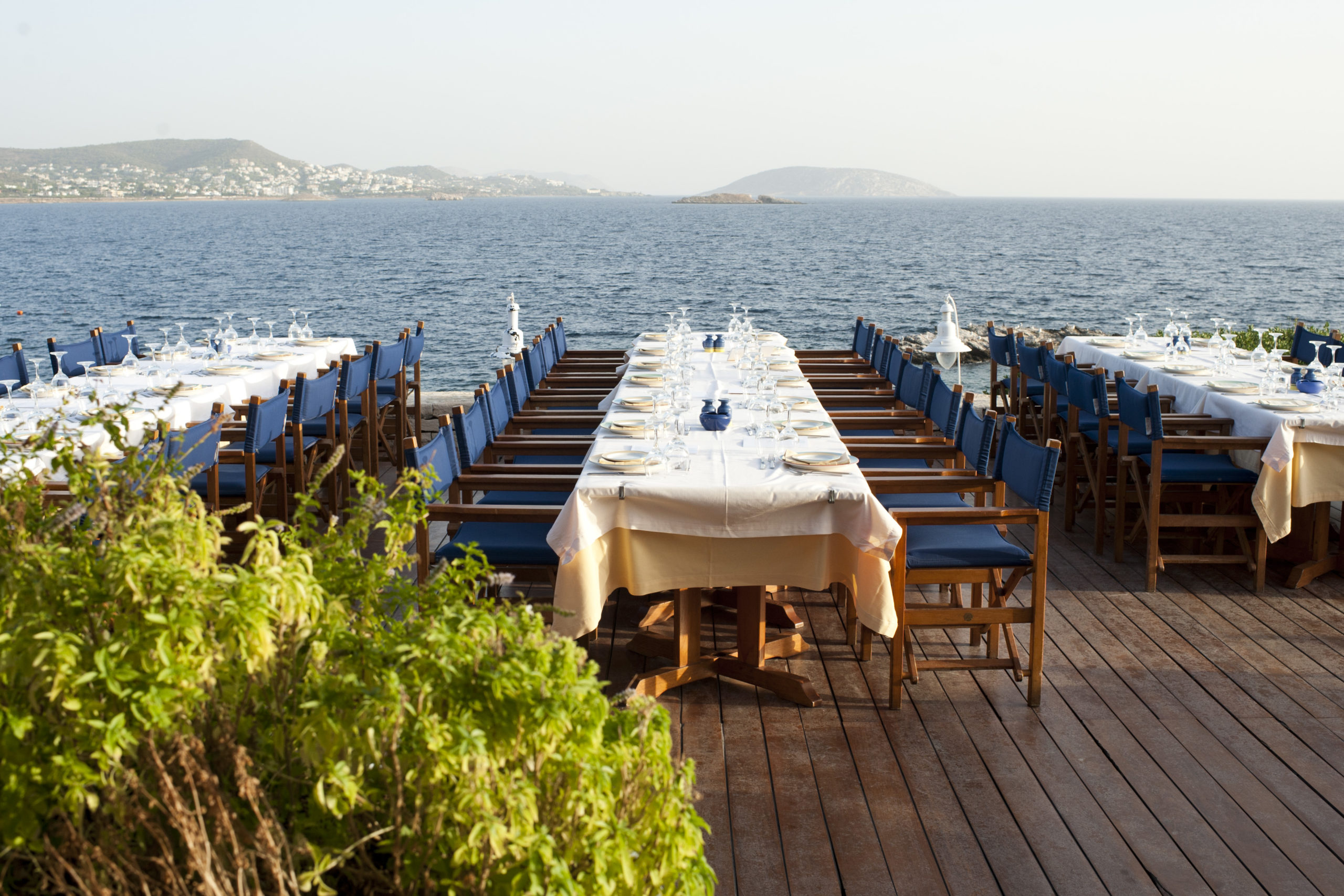 Dinner on viewing deck - Lagonissi Resort - Athens